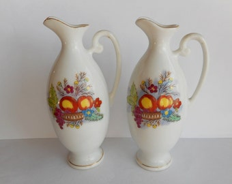 Vintage Miniature Porcelain Pitchers Made in Occupied Japan