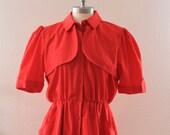 1980's Sabino Red Dress Vintage