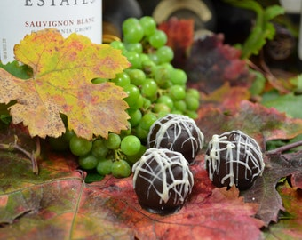 Chocolate Wine Truffles, Sauvignon Blanc, Wine Truffles, Dark Chocolate, Truffles, Wine Chocolate, Chocolate Wine, Hostess Gift