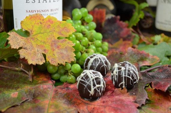 Chocolate Truffles, Sauvignon Blanc, Wine Truffles, Dark Chocolate Truffles, Wine Chocolate, Chocolate Wine, Gifts for Her, Hostess Gift