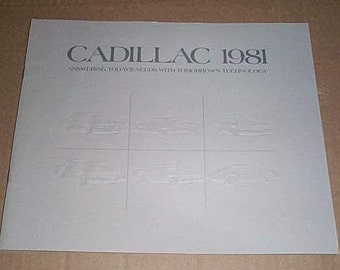 Rare vintage 1981 Cadillac luxury car automobile catalog: 1980's Fleetwood Brougham Sedan/Eldorado Cadillac catalog