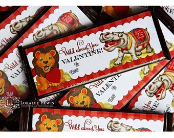 Wild About You Candy Bar Labels by Loralee Lewis