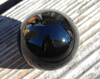 Black Obsidian Sphere 30-40mm / Crystal Ball / Scrying Mirror