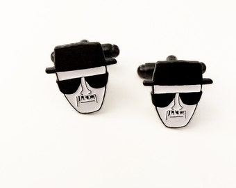 Heisenberg Cuff Links - Men's Breaking Bad Walter White Cufflinks