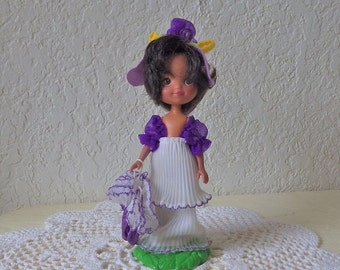 Rose Petal Place doll, IRIS original outfit with stand. A Favorite 1980s Toy