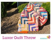 Luxor Throw Quilt Pattern pdf file for confident beginners - instant download