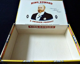 King Edward Cigar Box 1970's Vintage