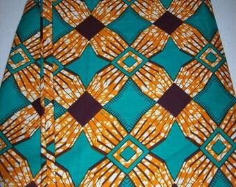 By the Yard, Green Color Supreme Wax Holland African fabric/Ankara wax print/ Holland wax prints/ Supreme Holland fabrics