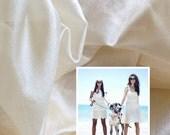 "Scarf fabric. Pure Silk. Ahimsa Peace Silk. Natural Organic Silk fabric, unbleached. 40g. Natural cream color. 42"" width."