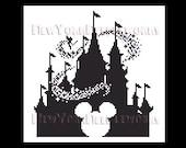 Cinderella's Castle Cross Stitch, WDW Castle Cross Stitch, Tinkerbell, Mickey Mouse Cross Stitch, Disney, Castles NewYorkNeedleworks on Etsy