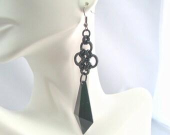 Black Dagger Earrings --Morte Collection
