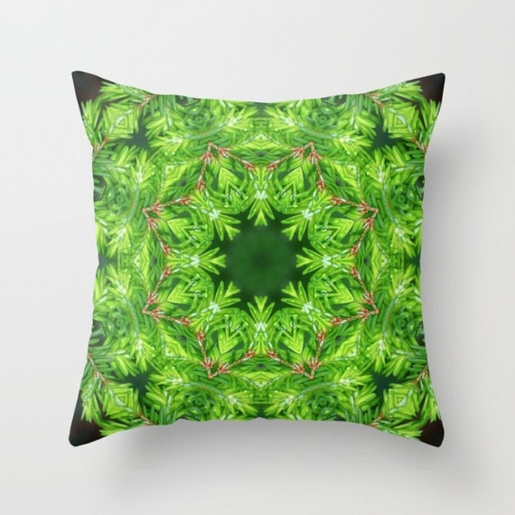Canadian Inspired Home Decor Canada Pillow Via Etsy: Spring Green Canadian Hemlock Mandala Throw Pillow Cover