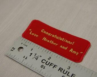 Custom clothing label, Embroidered label, Wedding Dress Label,   Wedding favors,