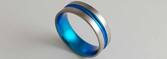 Mens Titanium Ring , Wedding Band , Dionysus Band with a Comfort Fit