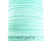 Aqua Fold Over Elastic - Choose 1, 5 or 10 Yards 5/8 inch FOE - Hair Ties Headbands Hairbow Supplies, Etc.