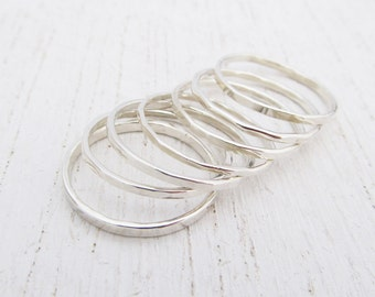 Stacking Rings - Sterling Silver Rings - Stack Rings - Argentium Rings - Thin Stacking Rings - Set of Rings - Minimalist - Gifts for Women