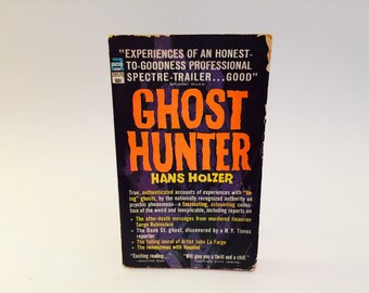 BOOKLOVERS SALE Vintage Paranormal Book Ghost Hunter by Hans Holzer 1963 Paperback