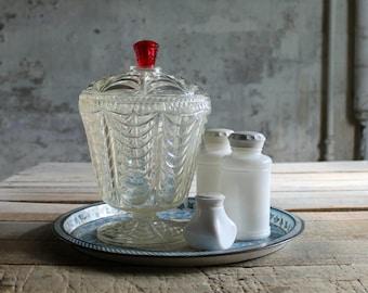 Vintage Plastic Vanity Jar