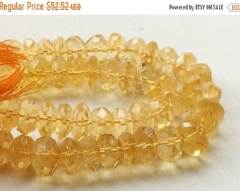 50% ON SALE Citrine, Sparkling Golden Orange Citrine Micro Faceted Rondelles, AAA Citrine Necklace, 11mm - 13mm, 10 Pieces