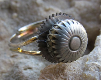 Simple Steampunk Watch Part Ring  R 44