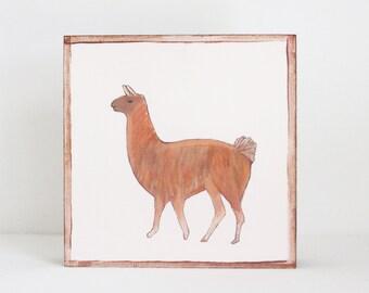 farmhouse nursery art llama- baby girl nursery - southwestern nursery prints, copper baby nursery decor- kids playroom- farm, redtilestudio