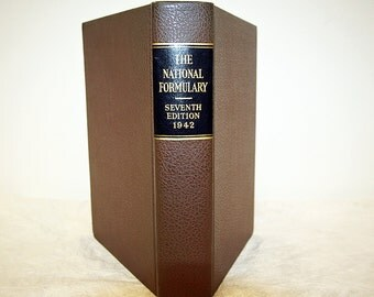 Vintage Pharmaceutical Book The National Formulary 1942 Seventh Edition Official Copy 13129 No More Cannabis Listing