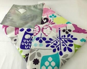 Reusable Sandwich Bag Wrap - Michael Miller Retro Forest Life Orchid