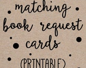 Printable Book Request Cards to Match any Invitation Design from OhCreativeOne, DIY digital file