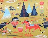 Gots KNIT ORGANIc Interlock Knit Fabric, Certified Cotton,Birch fabric, Village Feast Knit from Wildland Knit collection