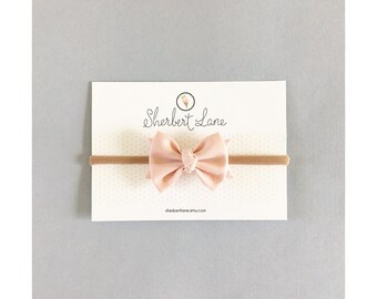 Baby Bow Headband - Classic Knot Bow - Dusty Peach