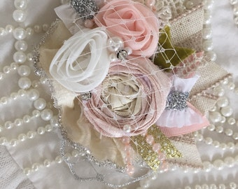 Belle Lamore french collection by cozette couture handmade flower clip headband