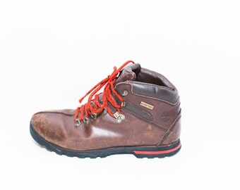 brown leather Timberland hiking boots size 11 10 womens mens