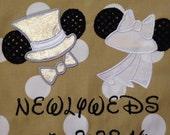 Disney Honeymoon Drawstring Backpack with Custom Monogramming