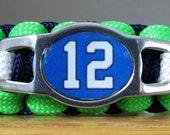Seattle Seahawks Bracelet, 12th Man Bracelet, Paracord Bracelet