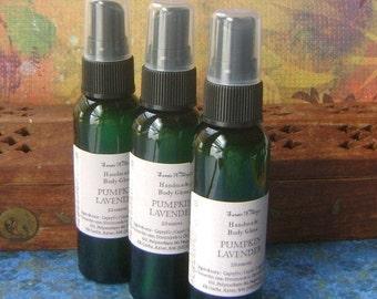 Body Oil Spray, Pumpkin Lavender Body Gloss, with Jojoba, Bath and Body Oil