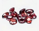 GARNET (24031)  PARCEL (12 Stones) Bright / Clean - Mixed Cut Red Garnet - Faceted