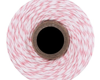 Cotton Candy Divine Twine (240 yds) Pink and White