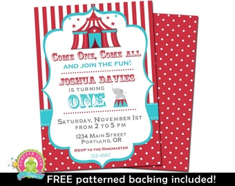 Carnival Party Invitation - Circus Invitation - Carnival Party Invite - Carnival Birthday Invitation - Carnival Party - Birthday Party
