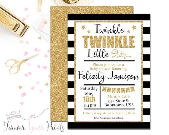 Girls Baby Shower Invitation, Twinkle Twinkle Little Star Baby Shower, Glitter Baby Shower, Baby Shower Invites, Gender Neutral Baby Shower