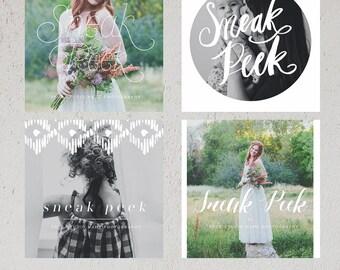 Modern Sneaks - Blog, Facebook and Instagram Sneak Peek Templates vol4