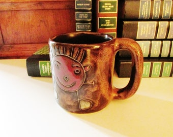 Vintage Mara Mexican Mug, Stoneware Mug, Soup Mug