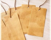 10 Primitive Tags .... Coffee, Tea, Dyed, Brown, Aged look, Blank, DIY, Gift Tag, Price 2x4