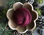 Wool for needle felting, Garnet Red, 1/2 ounce or 1 ounce, dark red wool for felting, dark red roving, needle felting supply, felting wool
