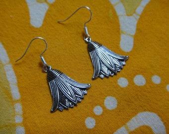 Lotus Flower Charm Earrings