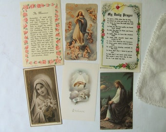 Vintage Holy Cards Prayer Cards Catholic Religious Picture France Germany Italy Mary Jesus Cherubs Holy Ghost Baptism Prayer Book Ephemera