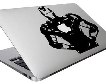 Iron man Macbook decal, Marvel Macbook decal, mac book decal, customized laptop-iron man superhero, marvel comics,Iron man, Decal, Iron man