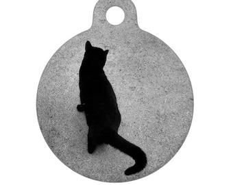 Pet ID Tag - Black Cat Photo Pet Tag, Cat Tag, Bag Tag, Child ID Tag