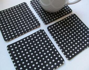 Set Of 4 Fabric Coasters/Square