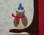 Owl Table Runner; The owl & tree is a licensed Chris Malone design.