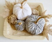 Lace Pumpkins, Fabric Pumpkin, Grey Pumpkin, Rustic Pumpkin, Autumn Whites, White Pumpkin, Shabby Pumpkin,